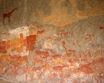 Ancient Rock Art and Special Guests at Big Cave, Zimbabwe