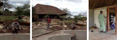 Rebuilding at Tortilis Camp