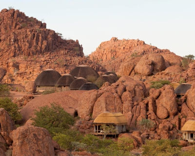 Peace and Tranquility between Boulders at Mowani Mountain Camp, Namibia