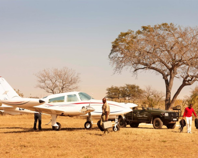 Weekly scheduled flights at Jaci's Safari Lodge