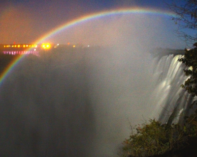 Moonbows over the Victoria Falls