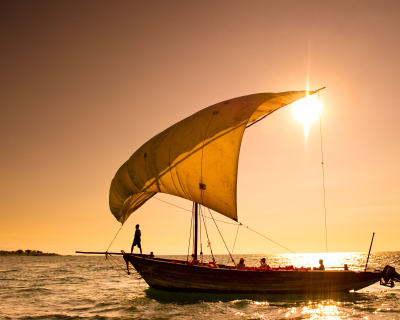 Sailing into the Sunset at Pumulani Lodge