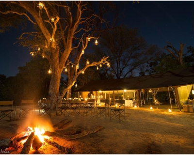 Dinner and a show at Machaba, Botswana