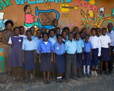 Christmas Cards and Joy at Tujatane School, Tongabezi Lodge
