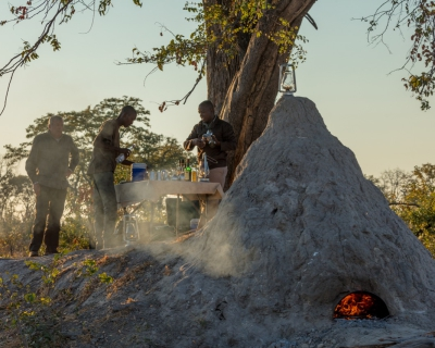 Pizza in the Bush at African Horseback Safaris