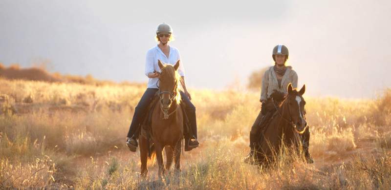 Horse riding at Boulders Safari Camp