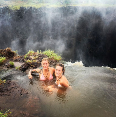 Swimming in Victoria Falls