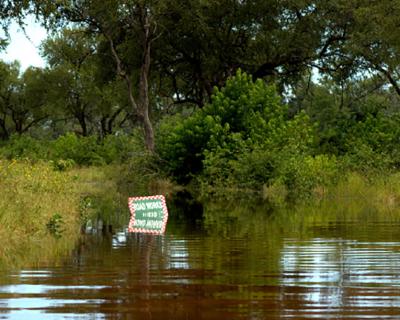 Summer floods at Machaba Safari Camp