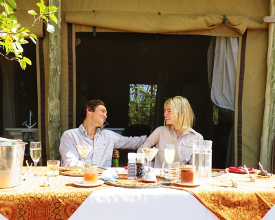 Honeymooners at Changa Safari Camp