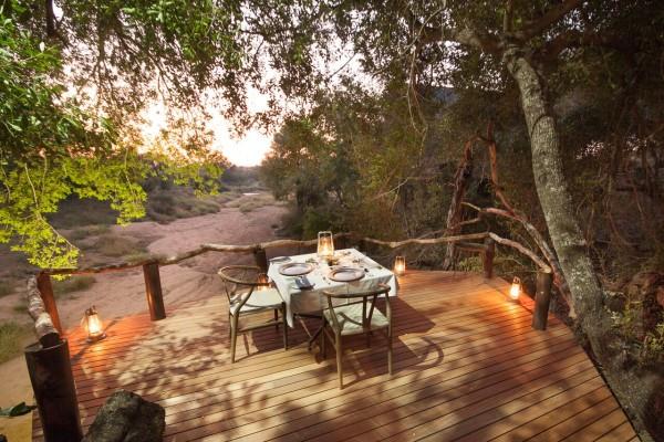 Private dining at Garonga Safari Camp