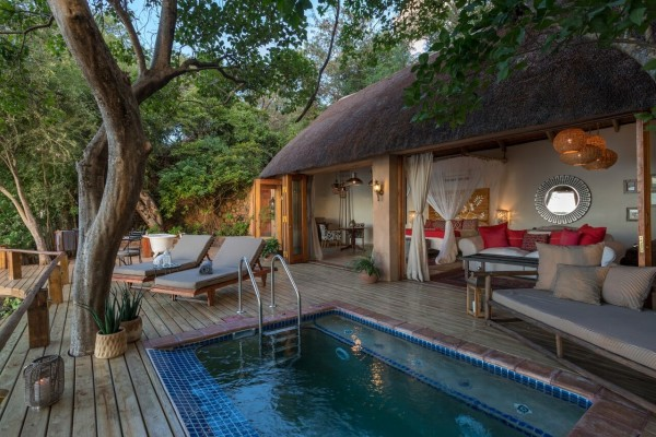 New Pool at The Bird House at Tongabezi Lodge