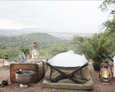 The Wild Romance of a Canvas Bush Bath at Cottars