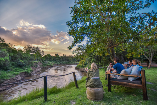 view of the mara river from il moran camp