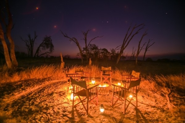 Nothing beats family time around the fire under the African sky