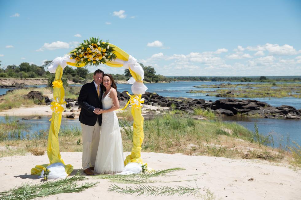 An Island Wedding at Tongabezi