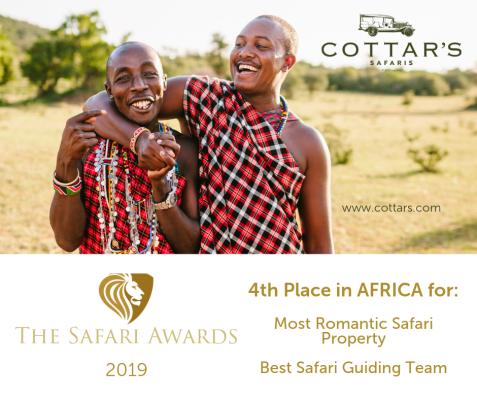 Most Romantic Safari Property in Africa - 4th Place Best Safari Guiding Team in Africa - 4th Place (1)